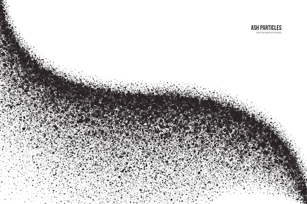 Cząsteczki czarnego popiołu spray efekt streszczenie tło grunge