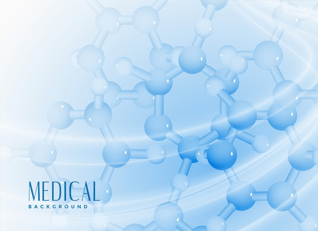 Cząsteczki tło dla medycyny lub nauki