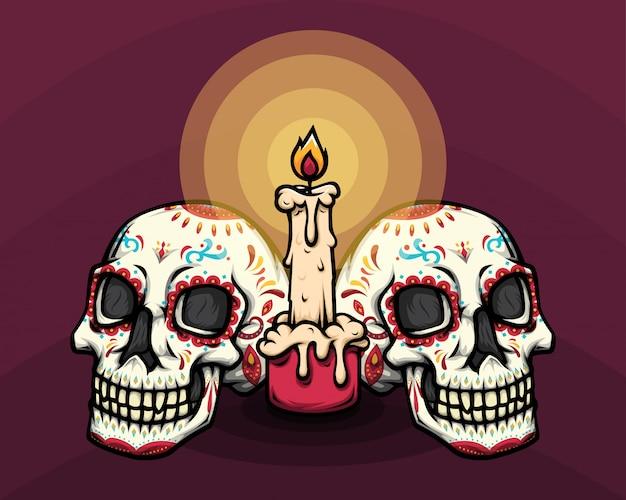 Czaszka dia de muertos