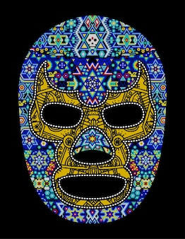 Czaszka huichol meksyk