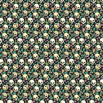 Czaszka i kość tło wzór wzór