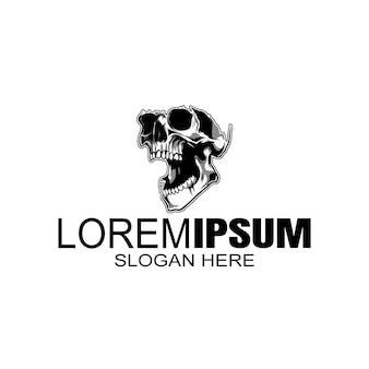 Czaszka logo, ikona lub ilustracja czaszki szkieletu.