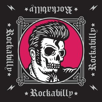 Czaszka rockabilly