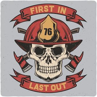 Czaszka strażaka