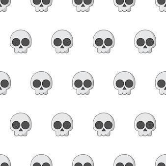 Czaszka szwu na białym tle. ilustracja wektorowa motywu godło pirata