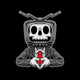 Czaszka tv man