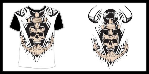 Czaszka zombie w czapce, ręczne rysowanie ręczne, izolowane, łatwe do edycji