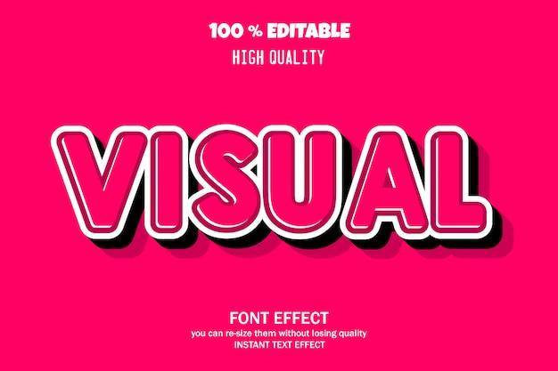 Czcionka edytowalna z efektem tekstowym 3d