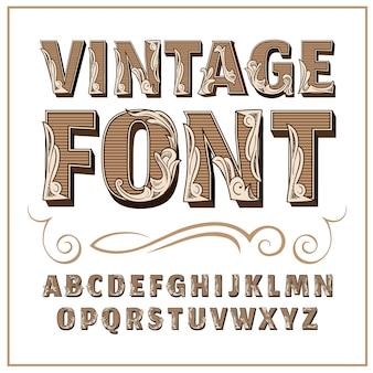 Czcionka etykiety vintage styl etykiety alcogol