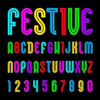 Czcionka plakatowa, alfabet w prostym stylu