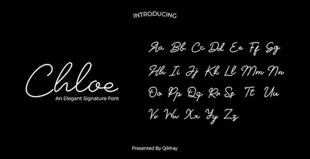 Czcionka podpisu chloe