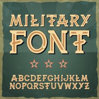 Czcionka w stylu retro, typografia w stylu vintage czcionka w stylu vintage alfabet dla etykiet, tytułów, plakatów 1941–1945