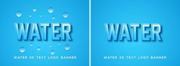 Czcionka z logo wody
