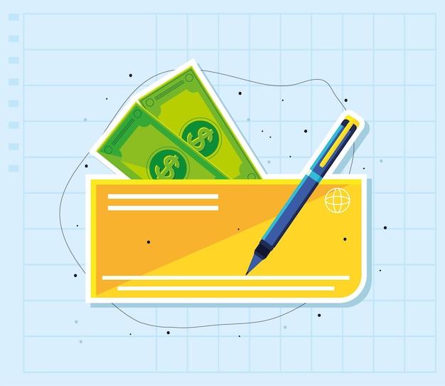 Czek bankowy i pieniądze