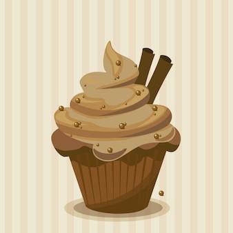 Czekolada cupcake tle