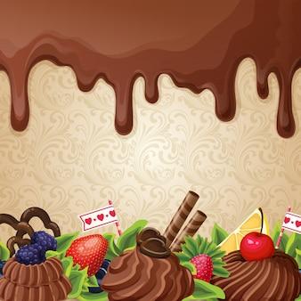 Czekolada tle słodyczy