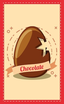 Czekolada z ikoną złamanej czekolady jajko