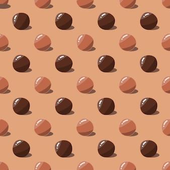 Czekoladowe cukierki bez szwu wzór słodkie ciasto tło