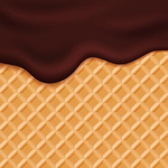 Czekoladowe polewa lodów na waflu