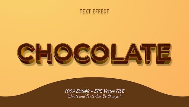 Czekoladowy efekt tekstowy