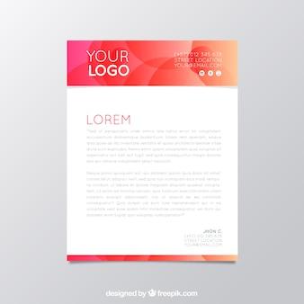 Czerwona broszura firmowa z okręgami