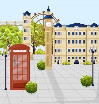 Czerwona budka telefoniczna w londynie