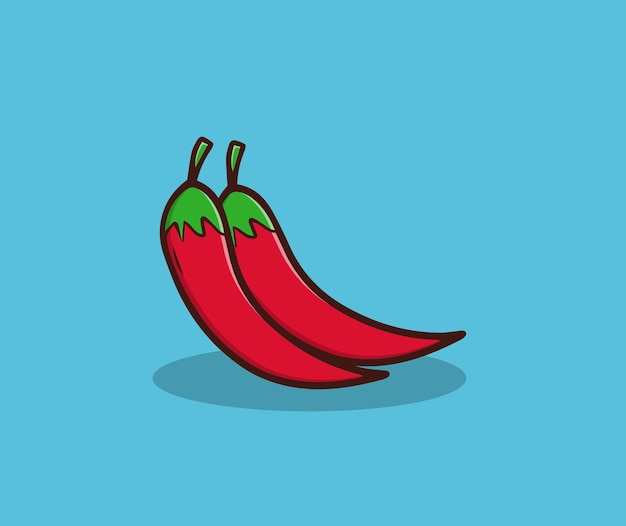 Czerwona chili rysunek ręka ilustracja