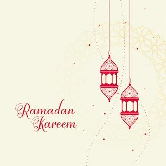 Czerwona dekoracyjna islamska lampion