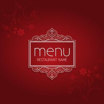 Czerwona elegancka restauracja menu