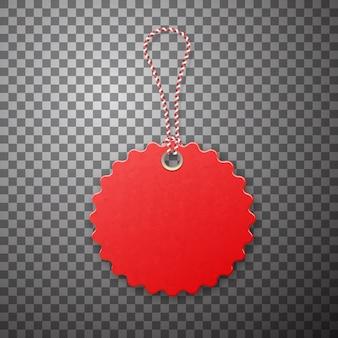 Czerwona etykieta. promocja sprzedaży, oferta niskiej ceny.