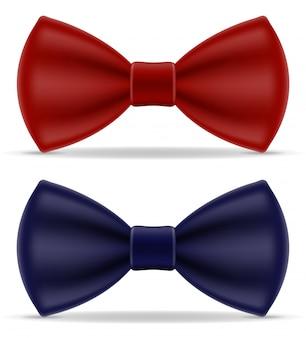 Czerwona i niebieska muszka dla mężczyzn w kolorze