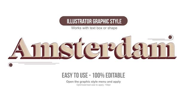 Czerwona i żółta stara vintage typografia 3d