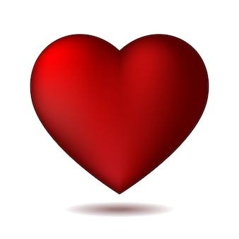 Czerwona ikona serca na białym tle