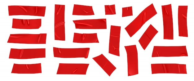 Czerwona kanał naprawy taśma ustawia odosobnionego