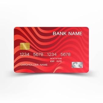 Czerwona karta kredytowa.