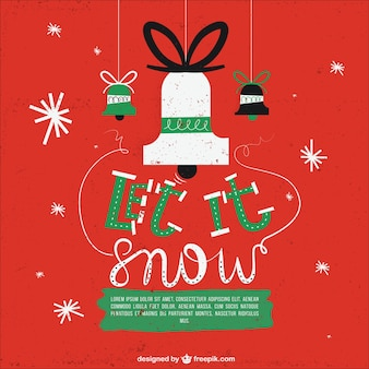 Czerwona kartka świąteczna z jingle bells