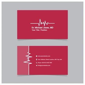 Czerwona kartka szablonu biznesu medycznego