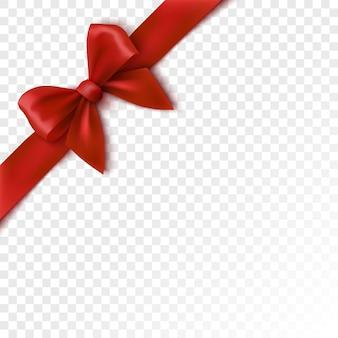 Czerwona Kokarda świąteczna Wstążka Do Pakowania Dla Ilustracji Pudełko Na Prezent Premium Wektorów