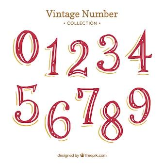 Czerwona kolekcja rocznika numer