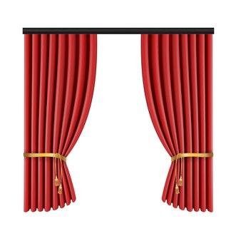 Czerwona kurtyna do sceny teatralnej
