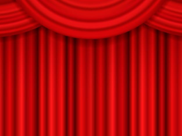 Czerwona kurtyna teatralna.