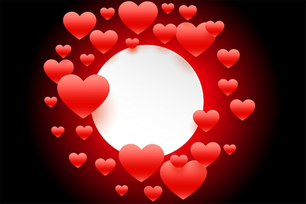 Czerwona latająca serce rama z tekst przestrzenią