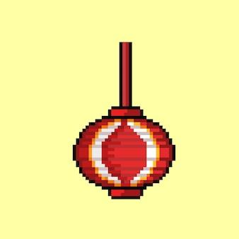 Czerwona latarnia w stylu pixel art