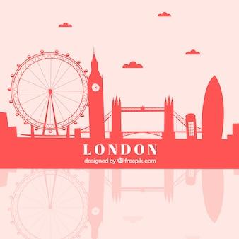 Czerwona Linia Horyzontu London Darmowych Wektorów
