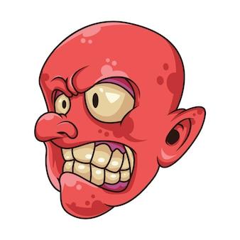 Czerwona maskotka goblinów
