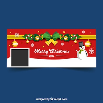 Czerwona okładka facebooku boże narodzenie 2017