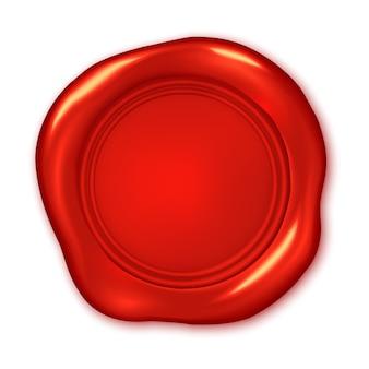 Czerwona pieczęć woskowa