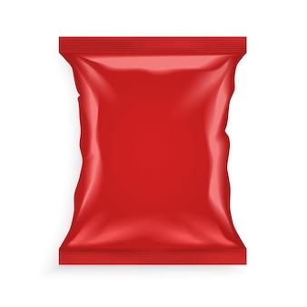 Czerwona plastikowa torba
