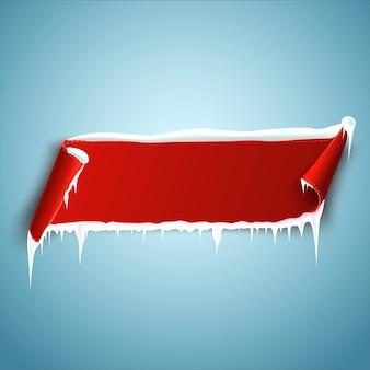 Czerwona pusta metka, etykieta lub znaczek. baner wstążkowy do reklamy. wektor