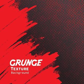 Czerwona ręka rysuje grunge z tłem półtonów